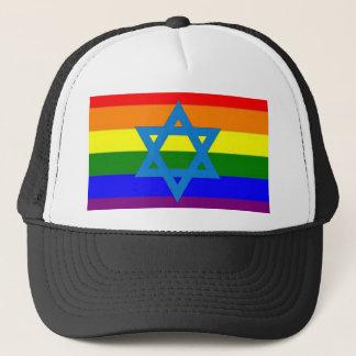 Jewish Gay Pride Flag Trucker Hat