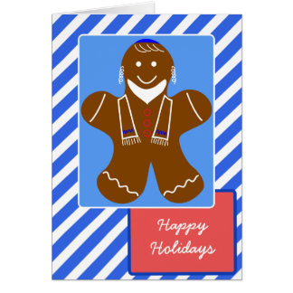 Jewish Gingerbread Man Greeting Card