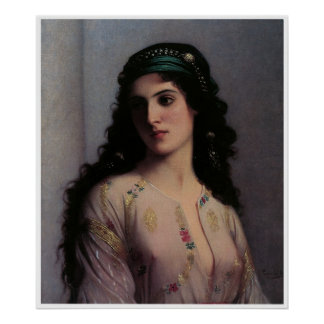 Jewish Girl in Tangiers, Charles Landelle Poster