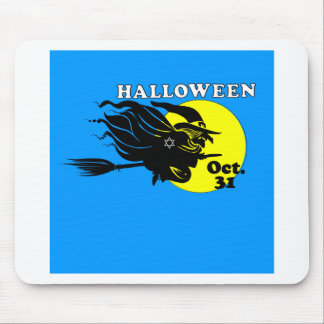 Jewish Halloween Witch Mouse Pad