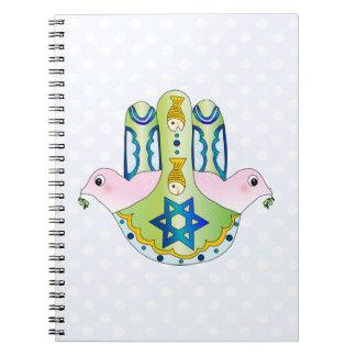 Jewish Hamsa Spiral Notebooks