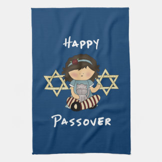 Jewish Holiday Celebrations Tea Towel