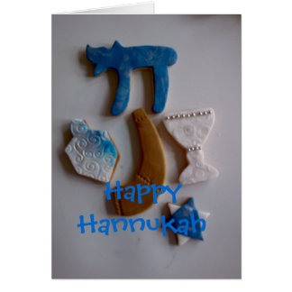 jewish holiday cookies, Happy Hannukah Greeting Card