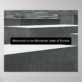 Jewish Holocaust Memorial (Denkmal), Berlin, Sign Poster