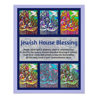 Jewish House Blessing City Of Jerusalem Poster