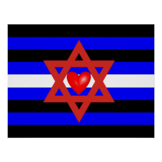 Jewish Leather Pride Flag Poster