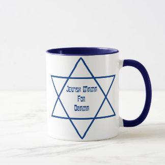 Jewish Mama For Obama Lg. Star Mugs
