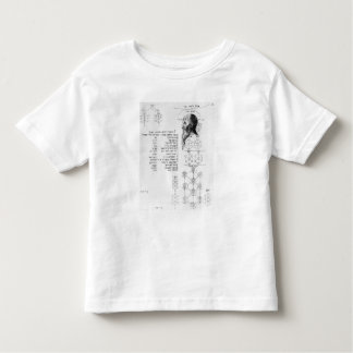 Jewish manuscript illustrating phrenology toddler T-Shirt