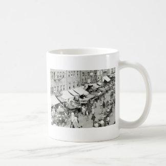 Jewish Market NYC 1890s Coffee Mugs