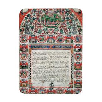 Jewish Marriage Contract (vellum) Magnet