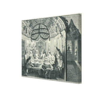 Jewish Meal During the Feast of the Tabernacles, i Stretched Canvas Print
