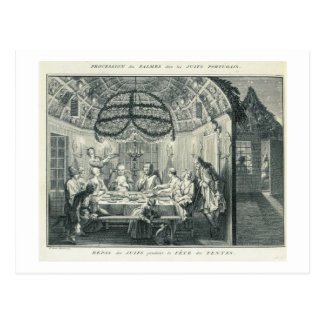 Jewish Meal During the Feast of the Tabernacles, i Postcard