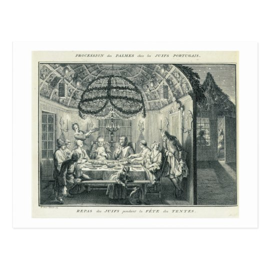 Jewish Meal During the Feast of the Tabernacles,