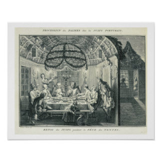 Jewish Meal During the Feast of the Tabernacles, i Poster