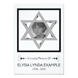 jewish memorial card