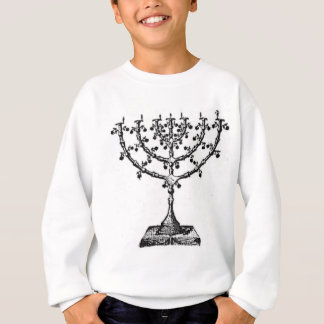 Jewish menorah sweatshirt