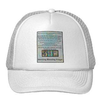 Jewish Morning Blessing Prayer Batik Hamsa Hat