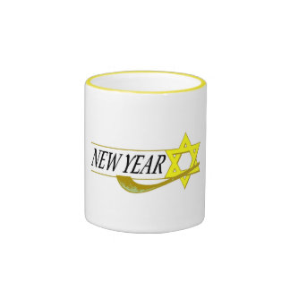 Jewish New Year Ringer Mug