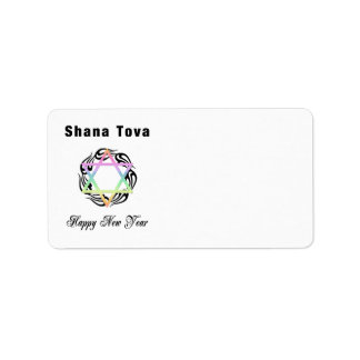 Jewish New Year Shana Tova Address Label