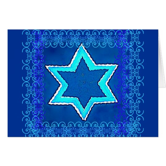 Jewish New Year Star of David Card 1