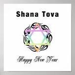 Jewish New Year Star of David Print