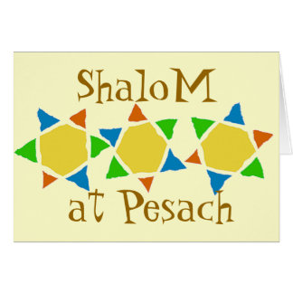 Jewish Passover pesach Note Card