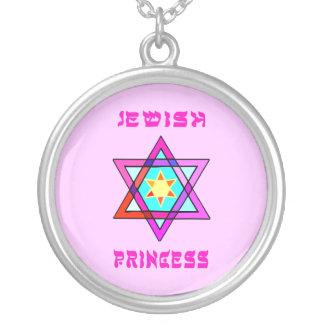 Jewish Princess Round Pendant Necklace