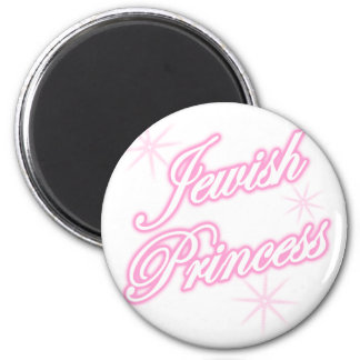 Jewish Princess pink 6 Cm Round Magnet