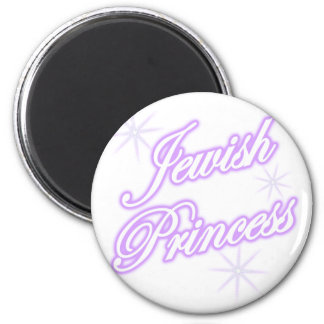 Jewish Princess purple 6 Cm Round Magnet