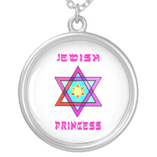 Jewish Princess Silver Plated Necklace