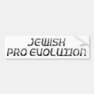 Jewish Pro Evolution Bumper Sticker