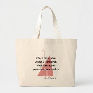 Jewish Proverb Large Tote Bag