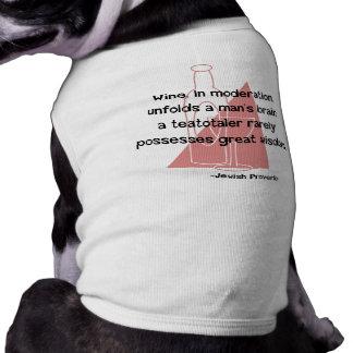 Jewish Proverb Sleeveless Dog Shirt