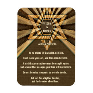 Jewish Proverbs and Quotes Rectangular Photo Magnet