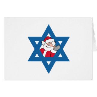 JEWISH SANTA GREETING CARD