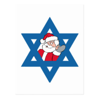 JEWISH SANTA POST CARD