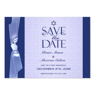Jewish Save The Date Ribbon Flat Card 13 Cm X 18 Cm Invitation Card