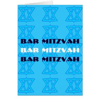 Jewish Star BAR MITZVAH card
