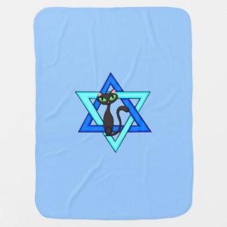 Jewish Star Cats Swaddle Blanket