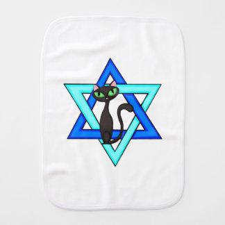 Jewish Star Cats Burp Cloth