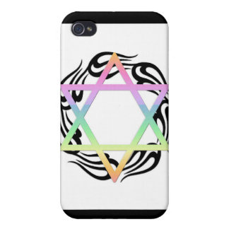 Jewish Star Colors iPhone 4 Covers