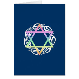 Jewish Star Colors Note Card
