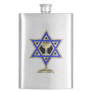 Jewish Star Hip Flask