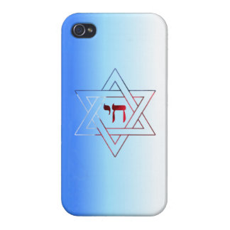 Jewish Star of David and Chai iPhone 4 Glossy Case iPhone 4 Case