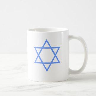 JEWISH STAR OF DAVID BASIC WHITE MUG