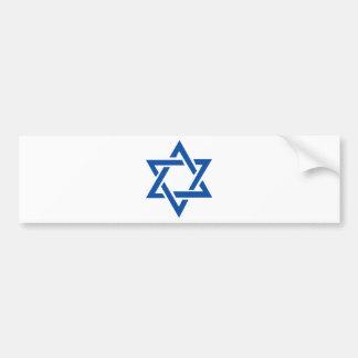 Jewish Star of David Blue Bumper Sticker