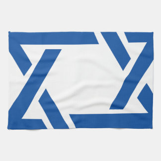 Jewish Star of David Blue Tea Towel
