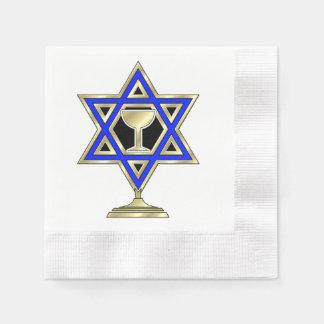 Jewish Star Of David Disposable Serviette