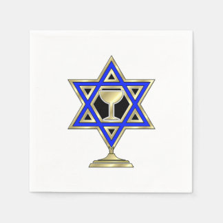 Jewish Star Of David Disposable Serviettes