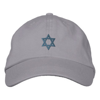 Jewish Star of David Embroidered Baseball Caps